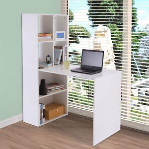 Image Is Loading 57 034 H Modern Computer Desk W Bookshelf