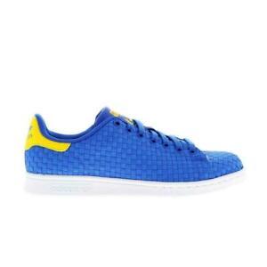 abajo farmacia Idear  Mens ADIDAS STAN SMITH Blue Woven Trainers BA8444 | eBay