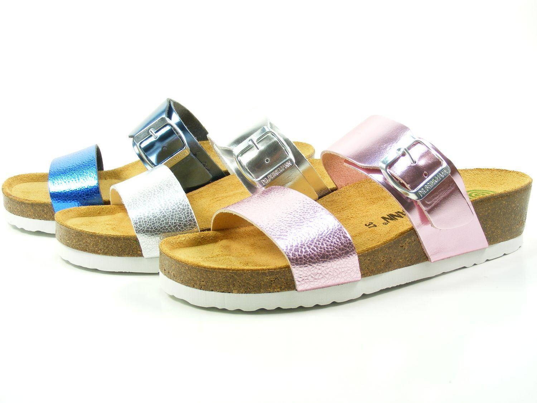 El Dr. brinkmann zapatos 701144 señora metalizado cuña sandalias sandalias Clogs