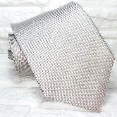 Energico Cravatta Uomo Seta Grigio Made In Italy Matrimoni Business Larga 9,5 Cm Gamma Completa Di Articoli
