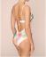 M/&s Rosie pour autographe Blanc Mélange Secret Slimming Palm Print Bandeau Maillot de bain