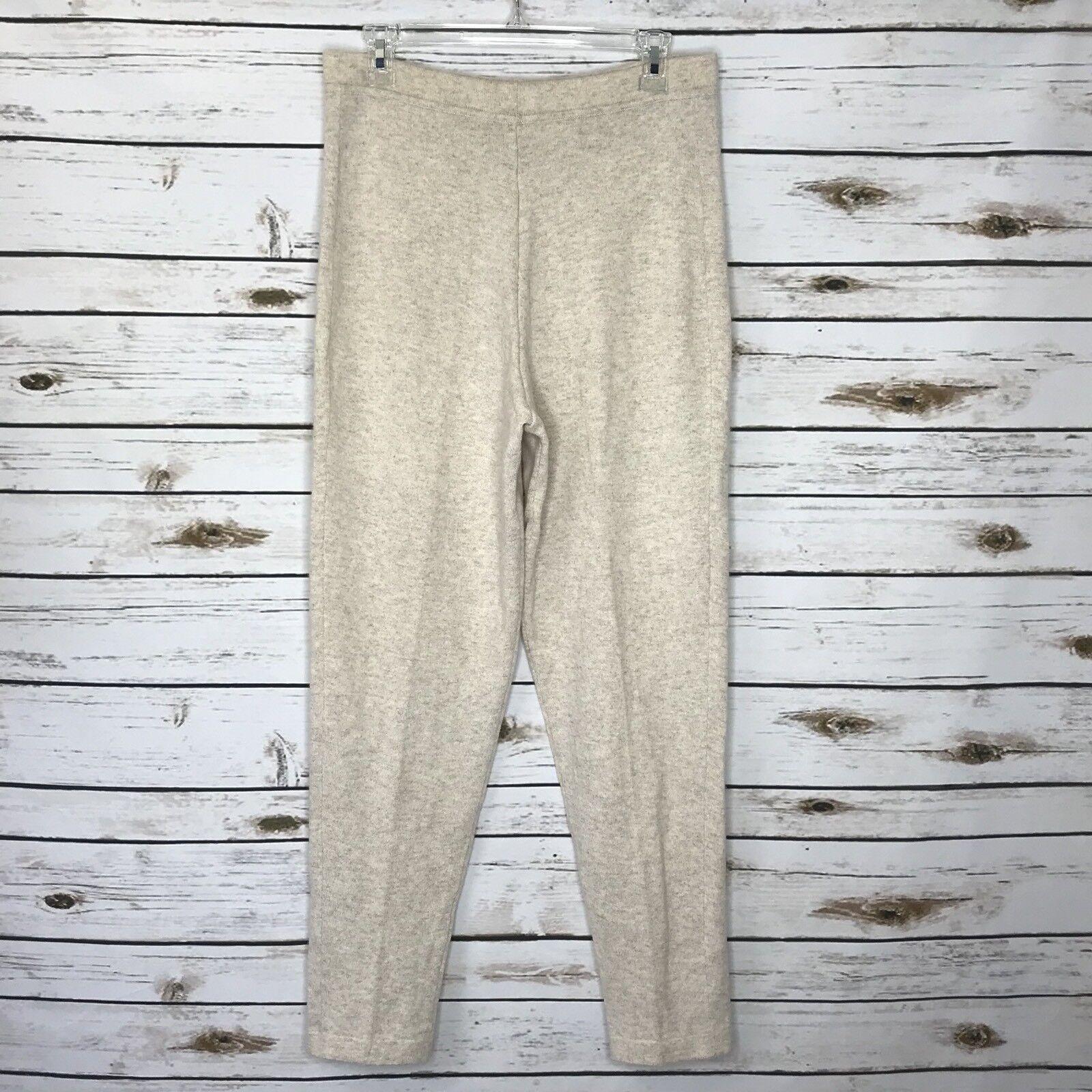 Erdus Oatmeal 100% Cashmere Womens Lounge Pants Size L