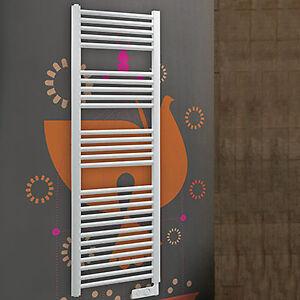 Termoarredo elettrico bianco termostato design bagno moderno scalda ...