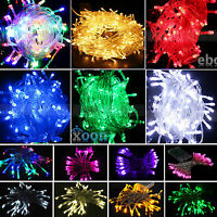 Colorful 20-200 LED String Fairy Light Party Xmas Wedding Decoration 2M-20M Lamp