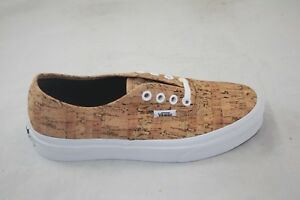 Image is loading NEW-VANS-AUTHENTIC-CORK-TAN-TRUE-WHITE-VN0000AIGYT- 341f53895287