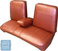 1967 Barracuda Seat Covers Pearl White - Front Bench W / Armrest - Pui