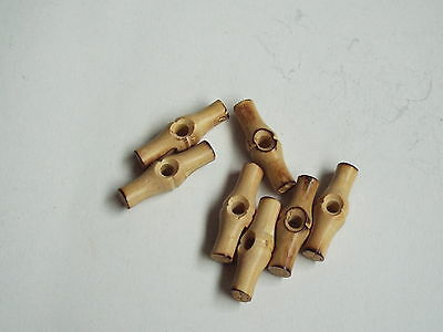 5pc 25mm en bois single hole toggle bouton idéal pour duffle-coat 2370