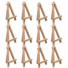 "12 Pack of Mini Wood 5"" Tabletop Art Craft Display Easels NATURAL Wooden Finish"