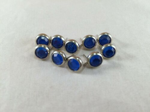 """Rim Set Acrylic Crystal Spots for Leather Sapphire Blue 5//16/"""" 2 Prong 1//4/"""""""