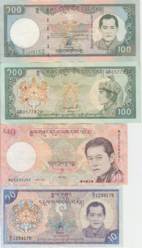 Bhutan banknote  collection of 8 different notes VF or BETTER WE COMBINE