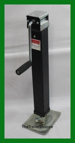 RAM 7000 Lbs Square Drop Leg Foot Trailer tongue Jack 7K Side Wind