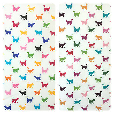 Mini Cat Print 100% cotton fabric per 1/2 Metre or fat quarter Vintage or Candy