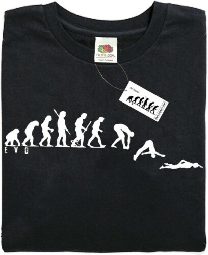 - Black Brand new. ape SWIMMING Mans Evolution T-Shirt® present gift