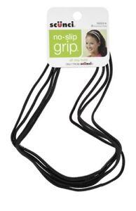 4-Pack-Scunci-No-Slip-Grip-Gel-Headwraps-Black-New