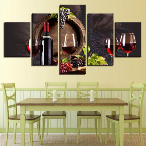 Healthy Drinks Painting 5p Canvas Print Poster Wall Art Kitchen Restaurant Decor