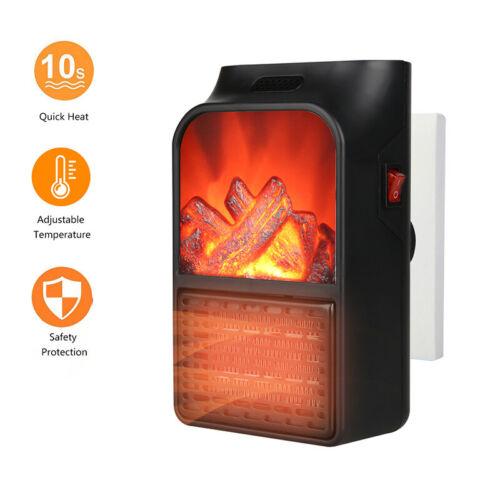 Portable Mini Electric Space Heater Winter Warmer Fan Air Heater Adjustable 900W