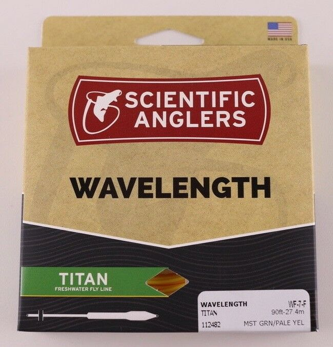 Scientific Anglers Wavelength Titan Fly Line WF7F Green Yellow ON SALE 112482