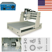 4 Axis Cnc Router Engraver Engraving Drilling Milling Machine Desktop 3040