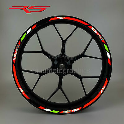 aprilia RS motorbike reflective wheel stickers rim stripes rs50 rs125 rs250