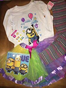 Image Is Loading Universal Minion Sz 5 5T Birthday Shirt Tutu