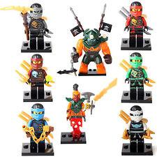 Ninja Ninjago Kai Zane Lloyd Dogshank Nadakhan 8 Minifigures Building Toys LEGO