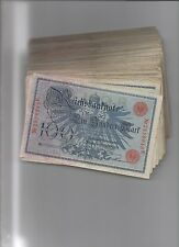 papiergeld deutschland 100x100 Mark 1908, Siegel rot, normale Erhaltungen