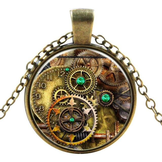 Cogs Gothic Steampunk Necklace Pendant