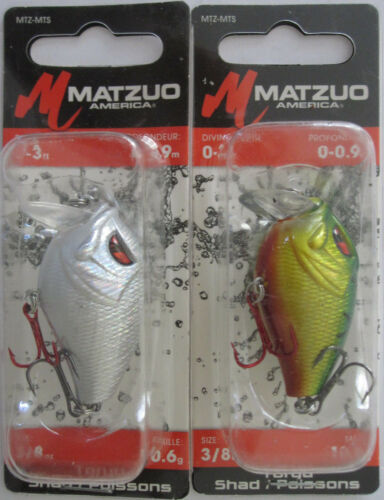 """Two Great Colors! 2 3//8 oz - 2/"""" MATZUO  Toryu Shad"""
