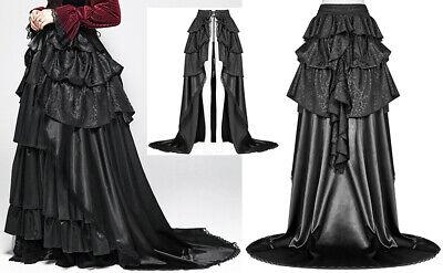 Jupe Longue Traîne Volant Gothique Victorien Baroque Mariée Bal Brocart Punkrave