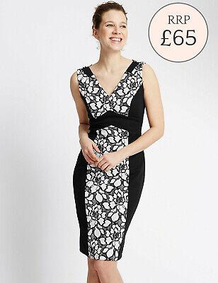Ex Miss Selfridge Women/'s Black Dress Bodycon 4 6 8 10 12 RRP £35!