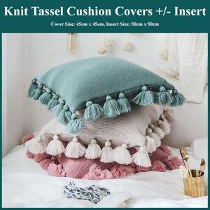 Tassels-Knitting-Throw-Cushion-Cover-Insert-Home-Decor-Pillow-Case-Edges