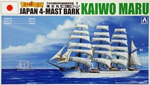 Aoshima 1930 Japanese 4-MAST BARK KAIWO MARU Sailing Ship model kit 1/350