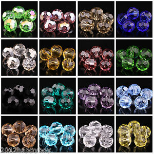 Lots-Of-100PCS-Faceted-Clear-Crystal-Round-Loose-Spacer-Beads-4mm-Jewelry-Making