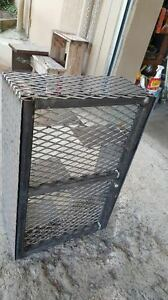Metal-Pro-Snake-Basket-Charcoal-Firewood-Pan-BBQ-Smoker-Grills-Fire-Box-Catering