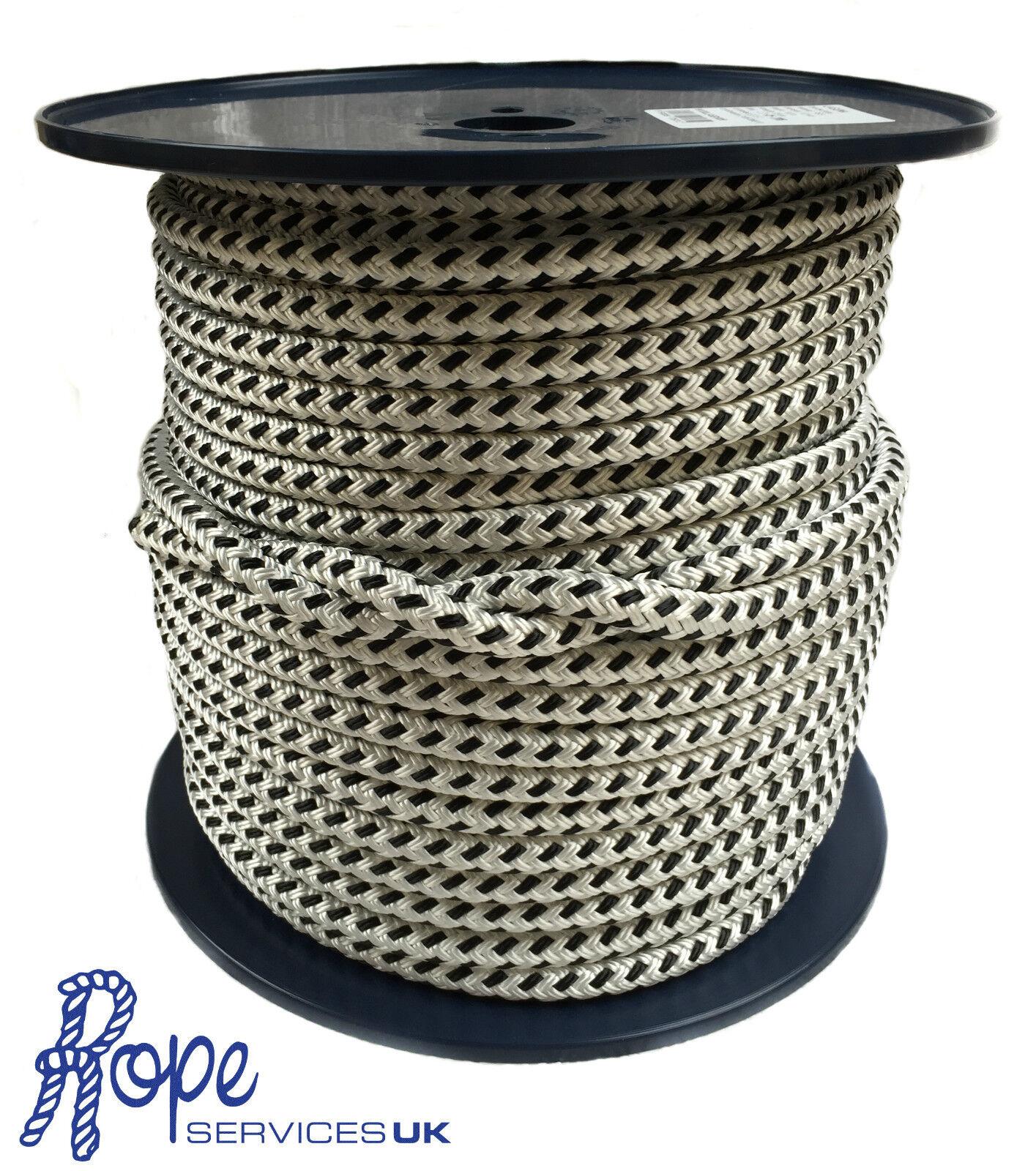 Geflochten auf Biese doppel-geflecht Marine Polyester Halyard Seil 12mm x 40