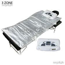 New Digital 3 Zone Far Infrared FIR Sauna Slimming Blanket Weight Lose Spa Detox