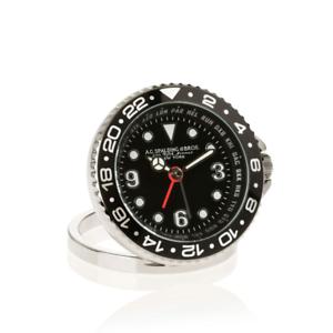 AG-Spalding-amp-Bros-orologio-GMT-sveglia-da-viaggio-quadrante-nero-428162U900