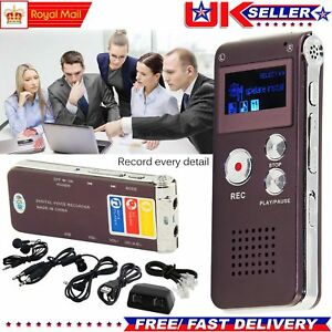 8GB-Rechargeable-DIGITAL-Sound-Voice-Recorder-Dictaphone-MP3-Player-Record-Steel