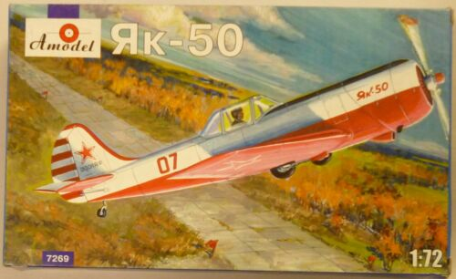 Amodel 1//72 Yak-50 Single Seater Soviet Fighter Aircraft Model Kit 7269