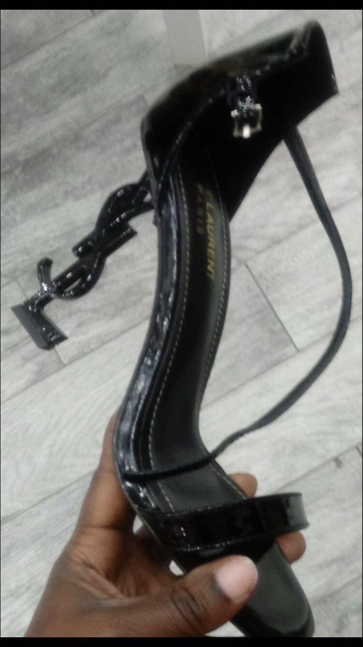 Sandalias De Mujer Tacón Alto Al Tobillo Zapatos Zapatos Zapatos Taco Aguja Sexy Negro  autorización