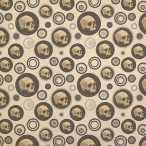 Image is loading Gothic-Human-Skull-Kraft-Present-Gift-Wrap-Wrapping-
