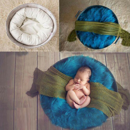 4PCS Donut Rings Pillow Newborn Baby Photogaphy Props Cotton Beanbag Photo Post