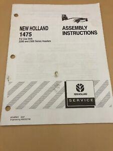 NEW-HOLLAND-1475-PIVOT-TONGUE-FRAME-ORIGINAL-FACTORY-Assembly-Instructions-Book