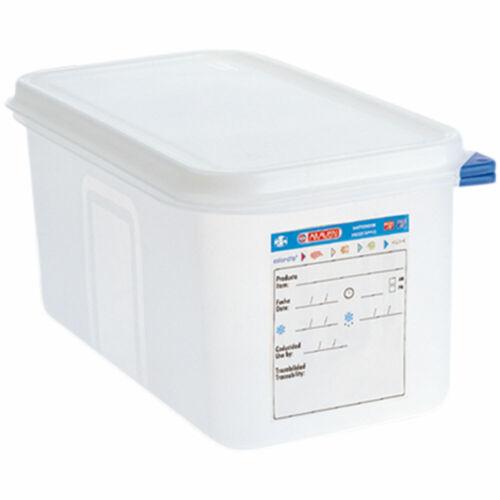 ARAVEN Gastronormbehälter mit Deckel Polypropylen GN 1//3 325 x 176 x100 mm 4,0 L