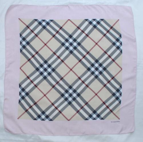 Authentic Burberry  big scarf Square  100% silk