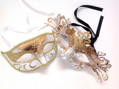 Couple Masquerade Ball Mask Pair Carnival Costume Graduation Prom Dance Party
