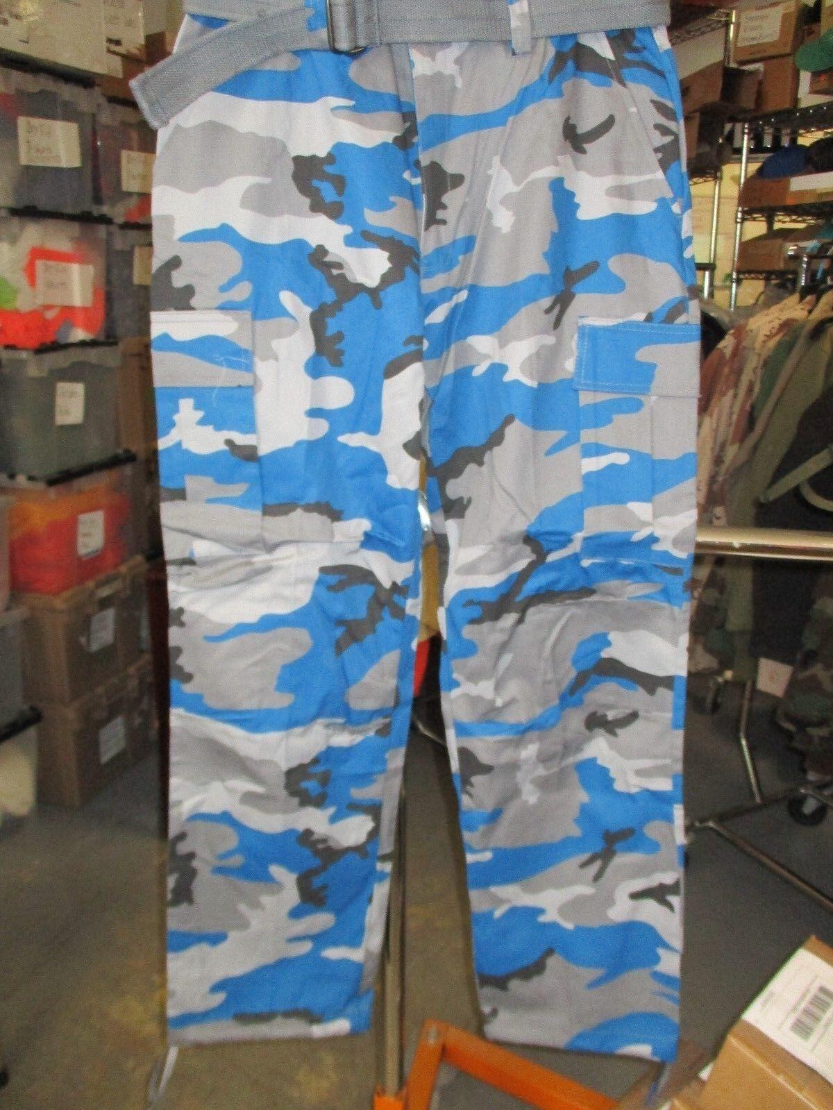 NEW-1-REGAL WEAR CARGO PANTS TROUSERS STYLE 6CP01 TEAL CAMO -W-36 -L-32[BLKBX002