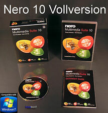 Nero 10 Multimedia Suite Vollversion Box + CD 3-in1 BackItUp Brennsoftware + OVP