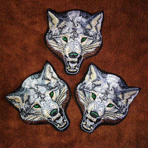 Animal wolf head iron on patches Sewon embroidered patch motif applique FO