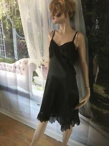Vintage-Slip-Full-Nightie-with-Fancy-Lace-Size-38